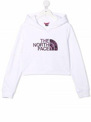 Худи с логотипом The North Face Kids. Цвет: белый