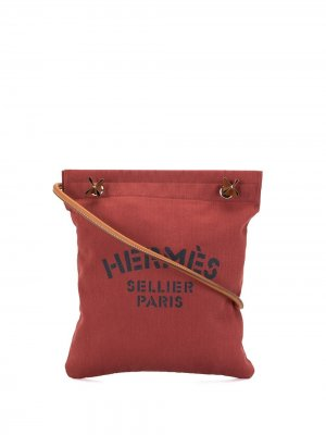 Сумка на плечо Aline MM pre-owned 2017-го года Hermès. Цвет: красный
