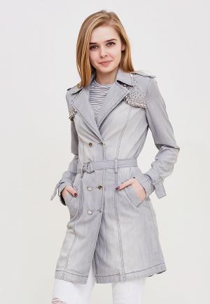 Куртка джинсовая DSHE MP002XW140T5. Цвет: серый