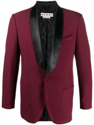 Однобортный пиджак Marni. Цвет: красный