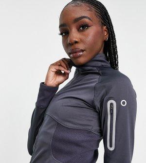 Куртка для бега с вырезами больших пальцев и карманом телефона Tall-Серый ASOS 4505