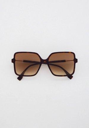 Очки солнцезащитные Fendi FF 0411/S 086. Цвет: коричневый