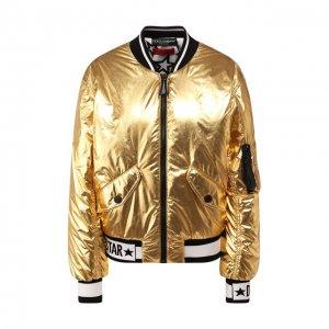 Бомбер Dolce & Gabbana. Цвет: золотой