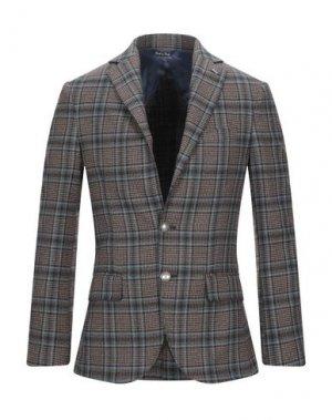 Пиджак TAKESHY KUROSAWA. Цвет: темно-коричневый