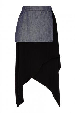 Комбинированная юбка со светлой вставкой Chapurin. Цвет: multicolor