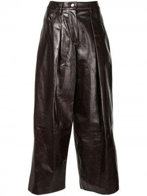 Широкие брюки Drome. Цвет: коричневый