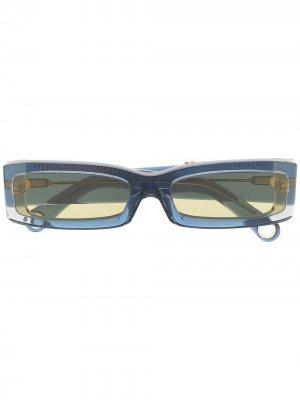 Солнцезащитные очки Les lunettes 97 Jacquemus. Цвет: синий
