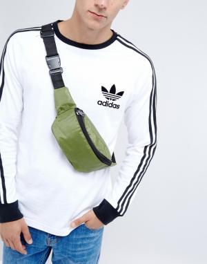 Фестивальная нейлоновая сумка-кошелек на пояс 7X. Цвет: зеленый