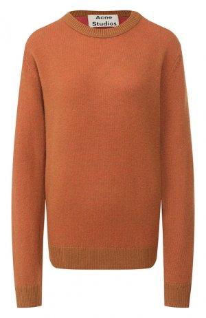 Кашемировый пуловер Acne Studios. Цвет: коричневый