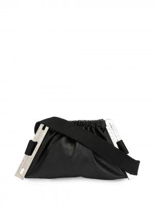 Поясная сумка со сборками MISBHV. Цвет: черный