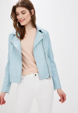 Куртка кожаная Sela. Цвет: голубой