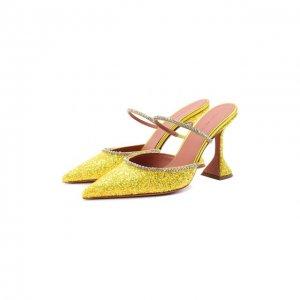 Мюли Gilda Amina Muaddi. Цвет: жёлтый