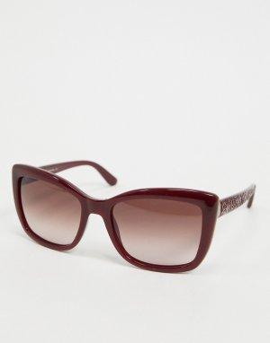 Красные квадратные солнцезащитные очки Etro-Красный ETRO