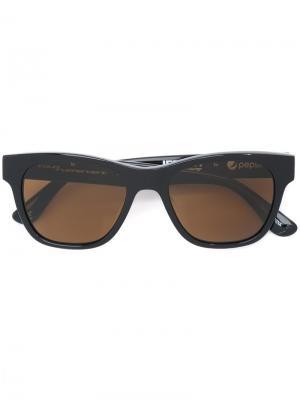 Солнцезащитные очки в квадратной оправе Italia Independent. Цвет: чёрный