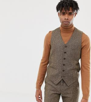 Светло-коричневый облегающий жилет Heart & Dagger. Цвет: коричневый