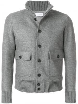 Пиджак на пуговицах Cruciani. Цвет: серый