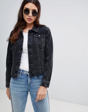 Джинсовая куртка с необработанным краем Blank NYC. Цвет: черный