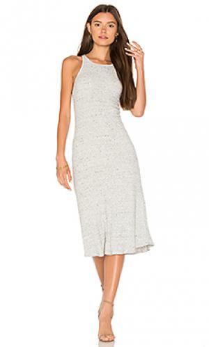 Платье-мини с борцовской спинкой David Lerner. Цвет: серый