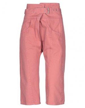 Джинсовые брюки-капри RACHEL COMEY. Цвет: пастельно-розовый