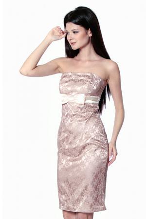 Платье Diva. Цвет: коричневый