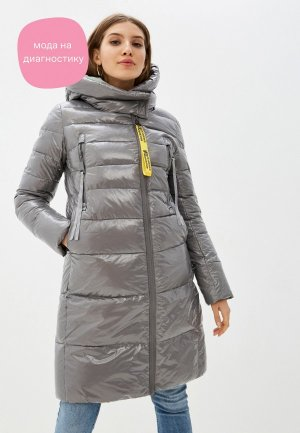 Куртка утепленная Снежная Королева. Цвет: серый