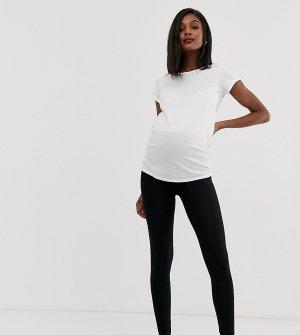 Черные леггинсы с посадкой над животом ASOS DESIGN Maternity-Черный цвет Maternity