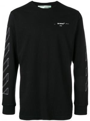 Базовая толстовка с логотипом Off-White. Цвет: черный