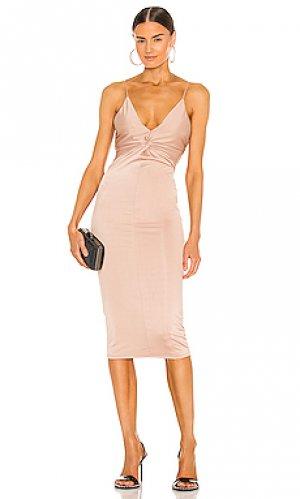 Платье миди kinsley Michael Costello. Цвет: серо-коричневый