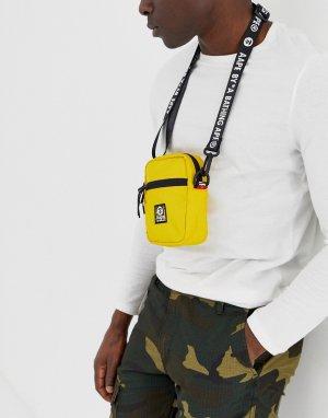 Желтая сумка AAPE By A Bathing Ape. Цвет: желтый