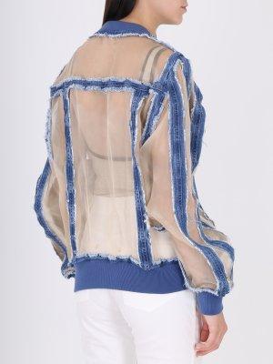 Куртка джинсовая с декором BALMAIN