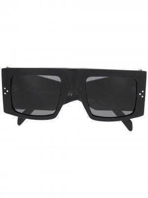 Солнцезащитные очки в прямоугольной оправе Celine Eyewear. Цвет: черный