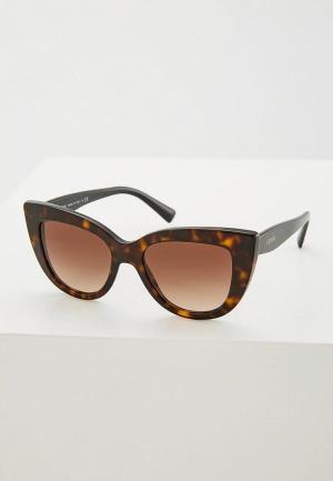 Очки солнцезащитные Valentino VA779DWZBY26. Цвет: коричневый