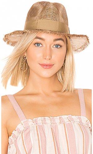Шляпа федора payton Brixton. Цвет: металлический золотой