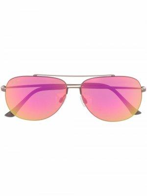 Солнцезащитные очки-авиаторы Maui Jim. Цвет: розовый