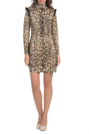 Платье Blumarine. Цвет: леопардовый