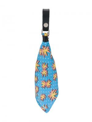 Брелок-бандана с пальмовым принтом AMIRI. Цвет: синий