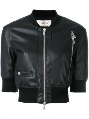 Укороченная куртка-бомбер Urbancode. Цвет: чёрный