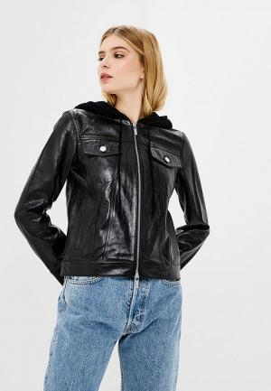 Куртка кожаная Helmut Lang HE025EWBYMD2. Цвет: черный