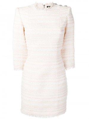 Облегающее твидовое платье Balmain
