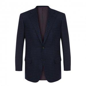 Однобортный шерстяной пиджак Brioni. Цвет: синий