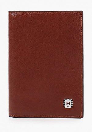 Обложка для паспорта Henderson. Цвет: коричневый