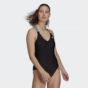 Слитный купальник SH3.RO adidas. Цвет: черный