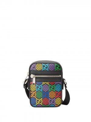 Сумка на плечо с принтом GG Psychedelic Gucci. Цвет: черный
