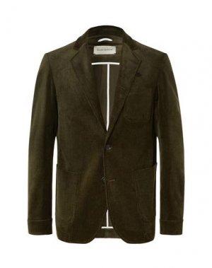 Пиджак OLIVER SPENCER. Цвет: зеленый-милитари