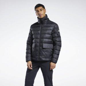 Утепленная куртка-бомбер Outerwear Urban Reebok. Цвет: black