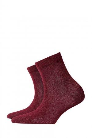 Бордовые носки Ladywell Burlington. Цвет: бордовый