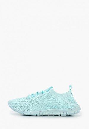 Кроссовки GLAMforever. Цвет: голубой
