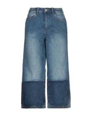 Джинсовые брюки-капри ROBERT RODRIGUEZ. Цвет: синий