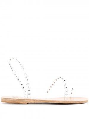Сандалии с кристаллами Ancient Greek Sandals. Цвет: белый