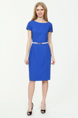 Платье с ремнем Lady Morgana. Цвет: синий
